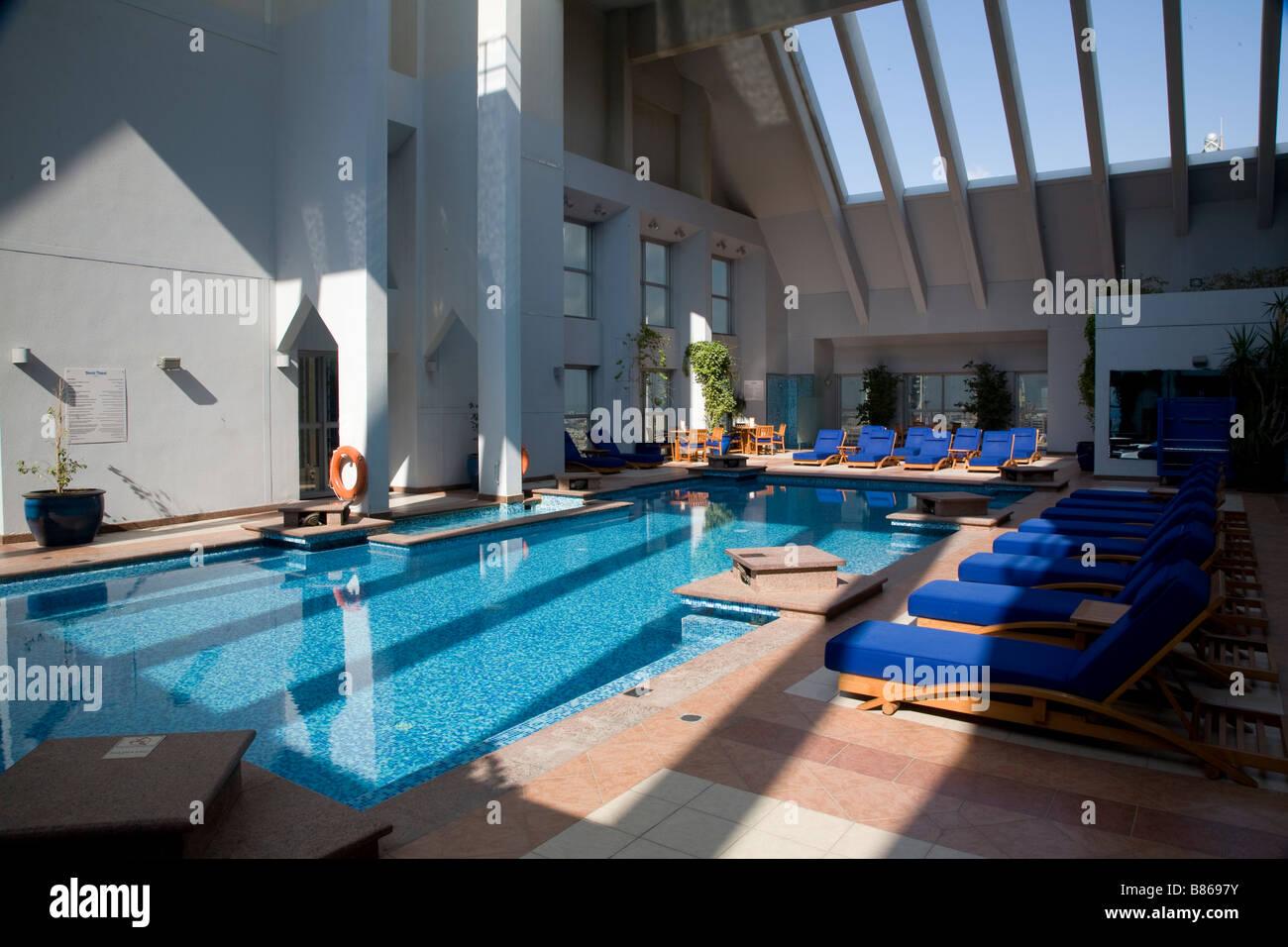 INDOOR / OUTDOOR ROOF SWIMMING POOL DUSIT HOTEL UAE DUBAI Stock ...