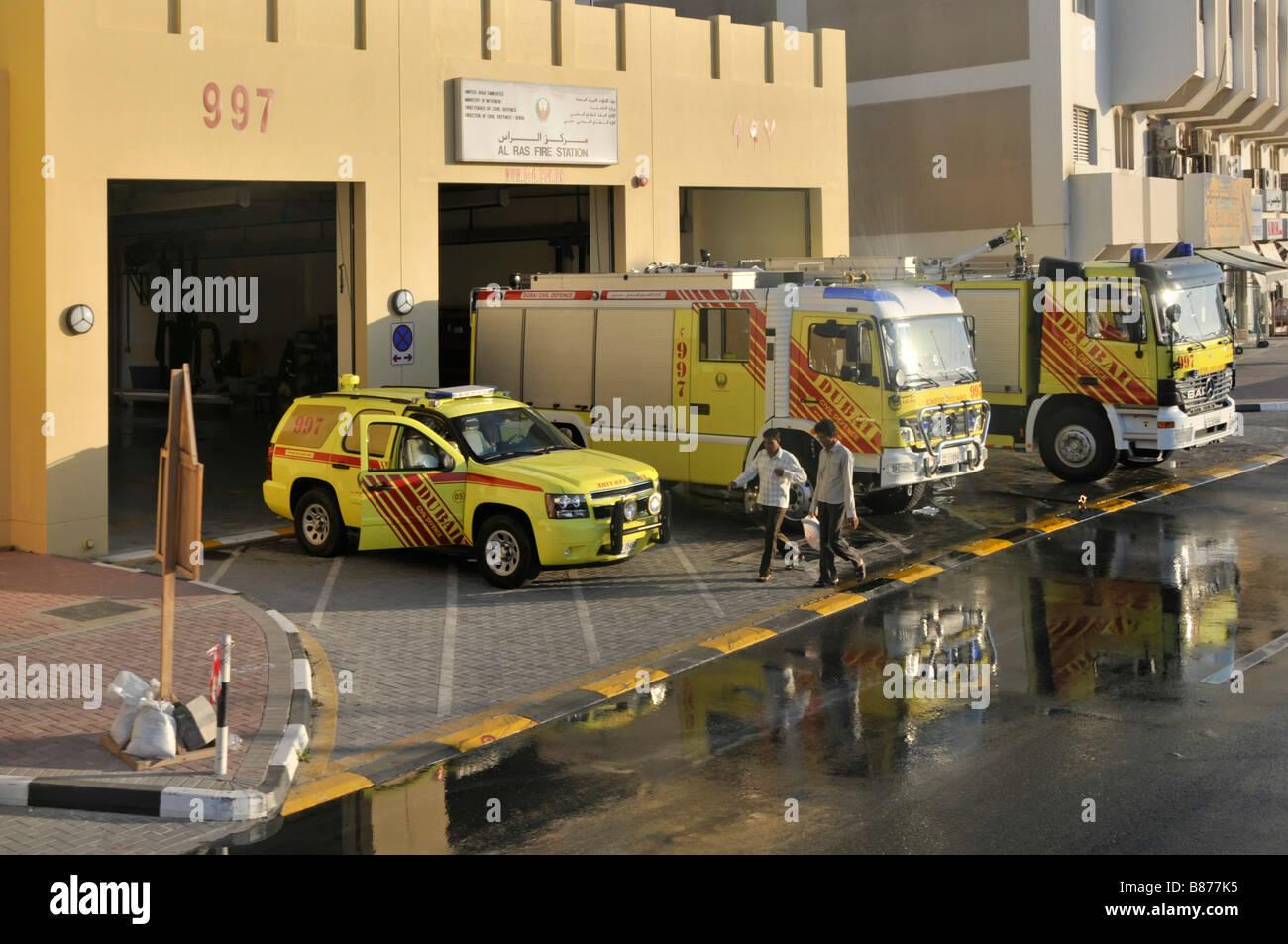 Dubai Al Ras Firefighters Station With Civil Defence
