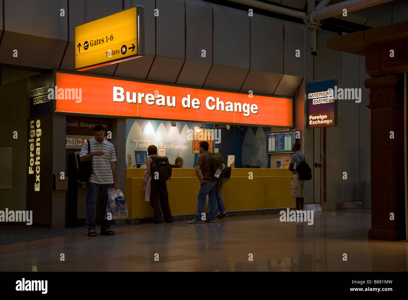 Bureau De Change Office Operated By American Express At Heathrow Airport Terminal  London