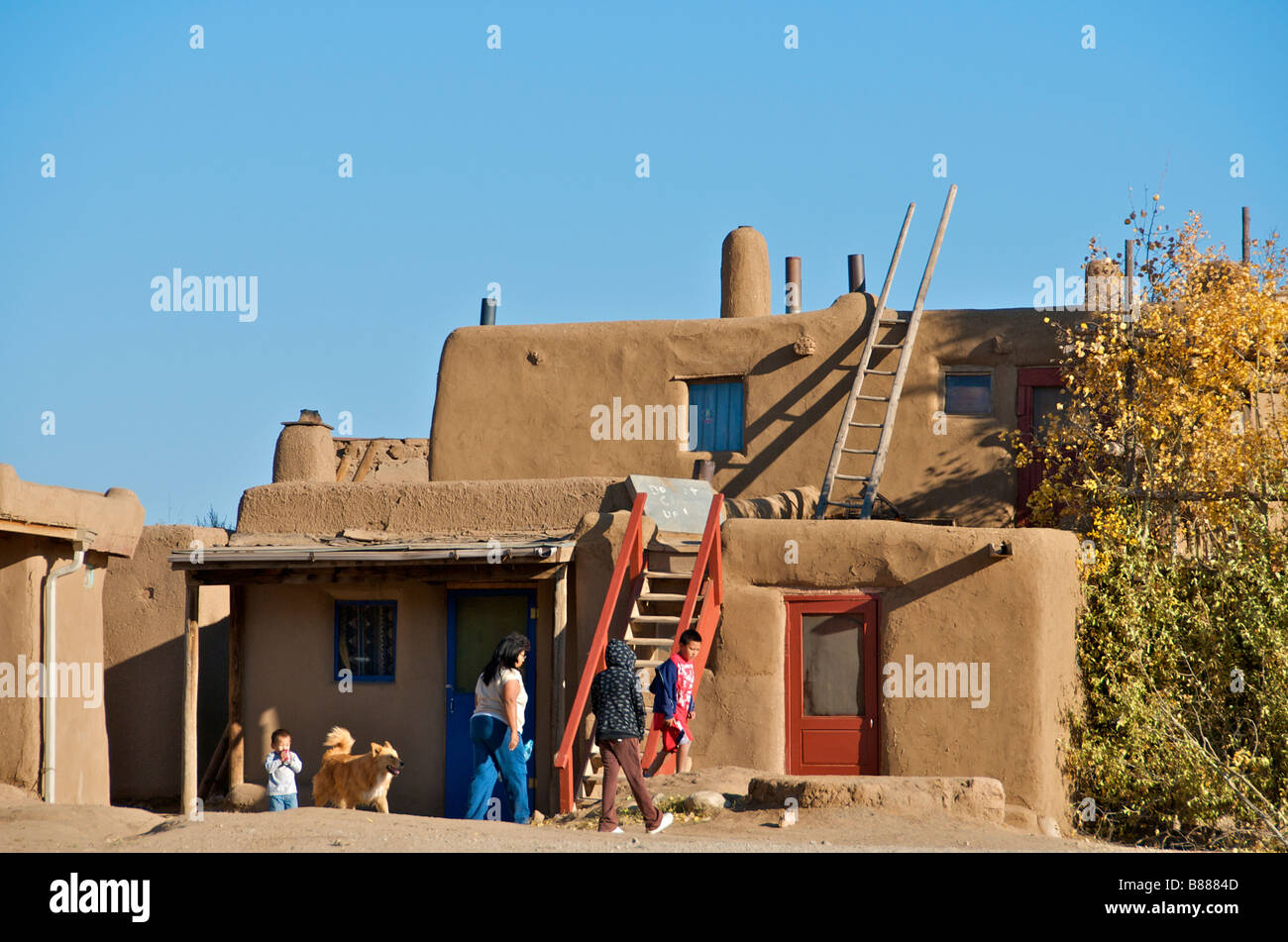 Inhabited adobe houses taos pueblo new mexico usa stock photo royalty free image 22309629 alamy - Pueblo adobe houses property ...