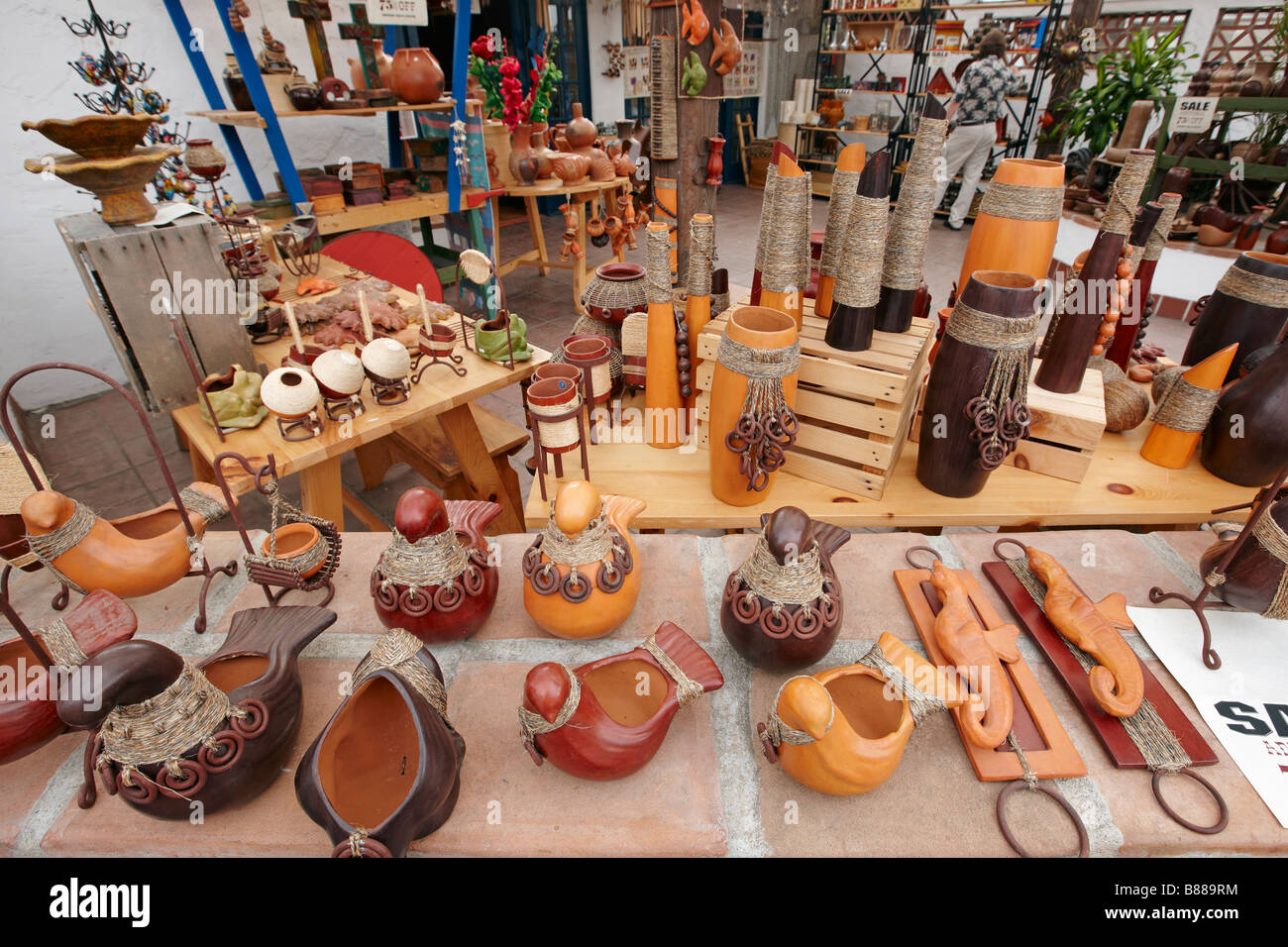 Gift shop display. Old Town San Diego, California, USA Stock Photo ...