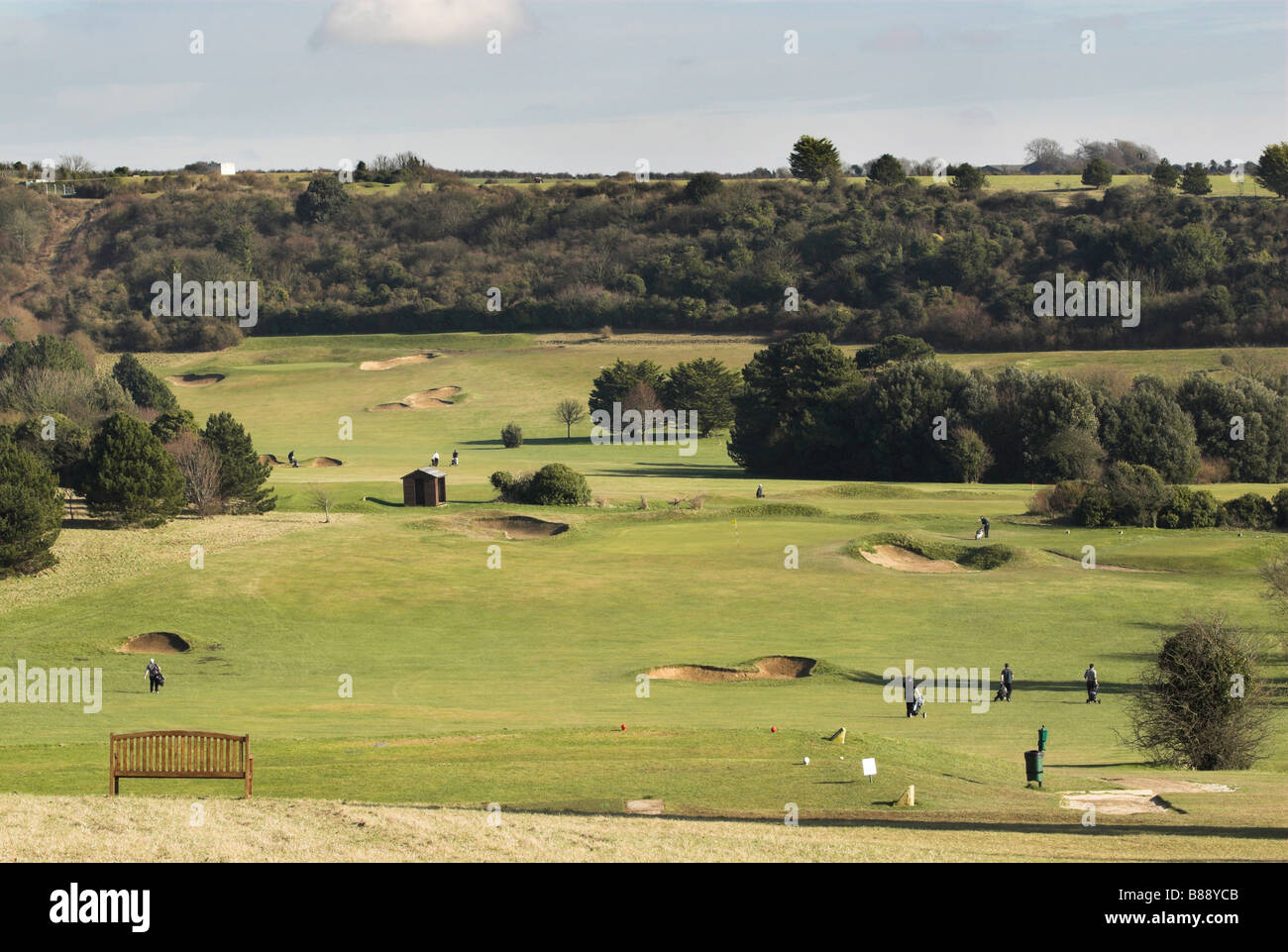 hillbarn golf course worthing west sussex stock photo. Black Bedroom Furniture Sets. Home Design Ideas