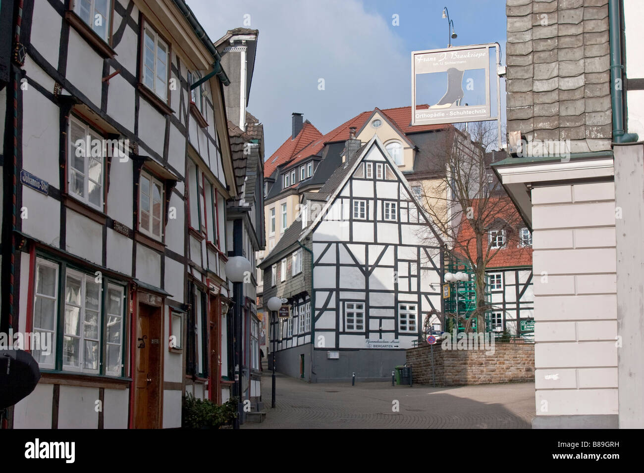 traditional german architecture in the old town of hattingen