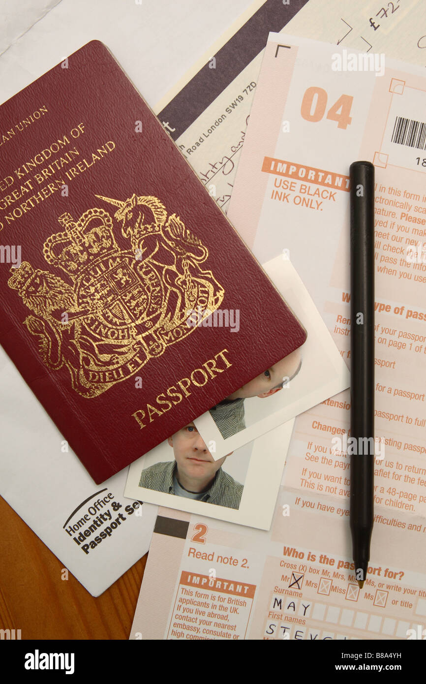 Uk british passport application form and photograph photo stock uk british passport application form and photograph photo falaconquin