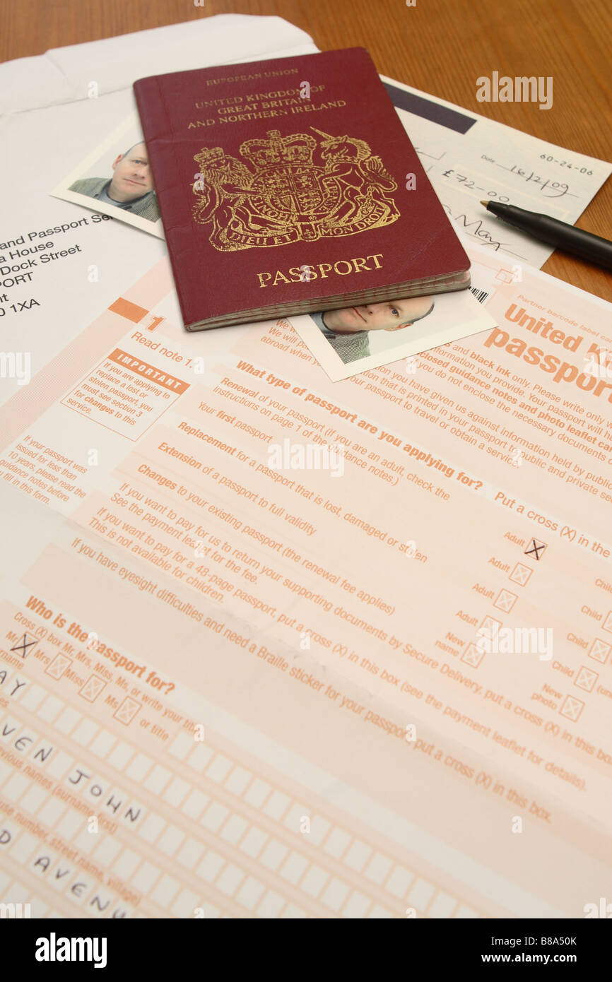 Uk british passport application form and photograph photo stock uk british passport application form and photograph photo falaconquin