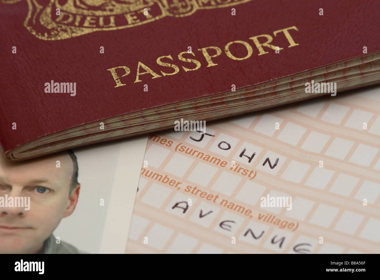 Uk British Passport Application Form And Photograph Photo Stock Image :  Application Form For Nz Passport