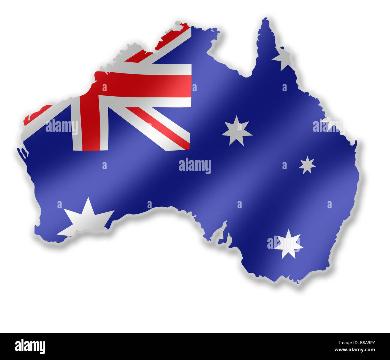 Australia australian country map outline with national flag inside australia australian country map outline with national flag inside gumiabroncs Images