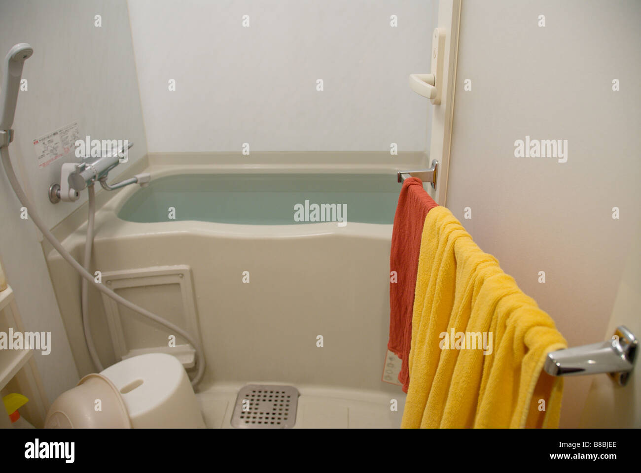 A Full Tub In A Typical Modern Japanese Unit Bathroom In A Tokyo Stock Photo Royalty Free Image