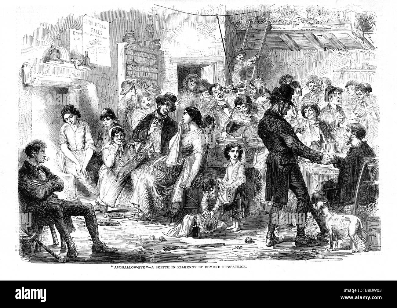Allhallow Eve in Kilkenny 1859 sketch of fun and games at a ...