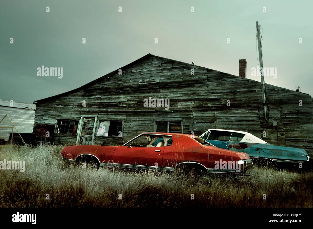 Old cars in rural Saskatchewan, Canada Stock Photo: 22427523 - Alamy