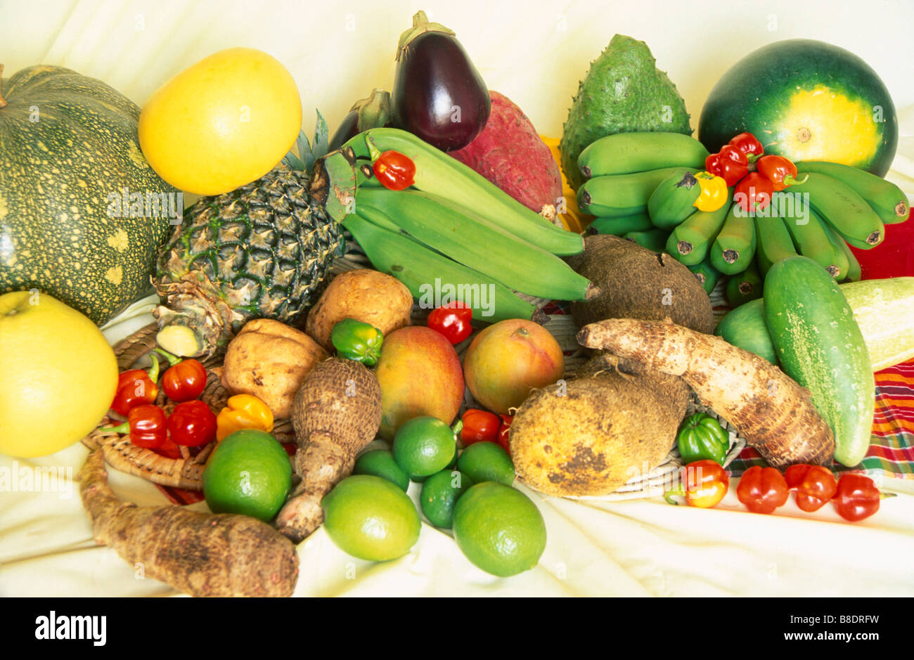 Tropical Fruits & Vegetables Stock Photo, Royalty Free ...