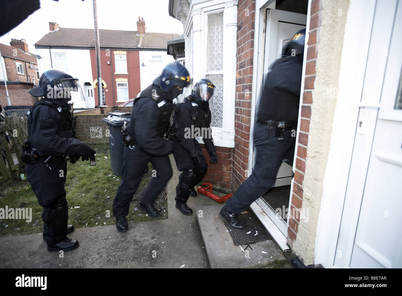 Battering Ram Police Officers from the Bran...