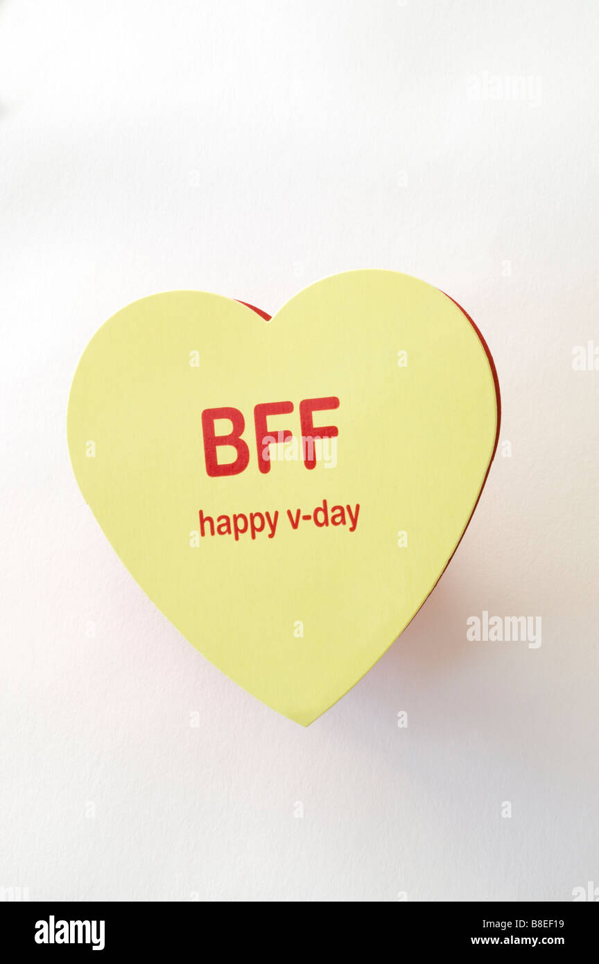 heat shaped valentines day candy box with bbf best friend forever sentiment