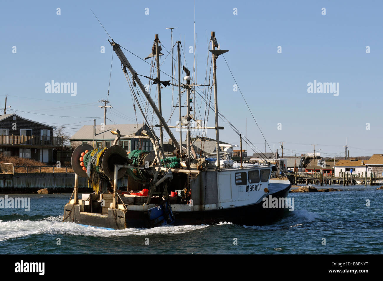 Commercial fishing boat returning to port in galilee rhode for What is commercial fishing