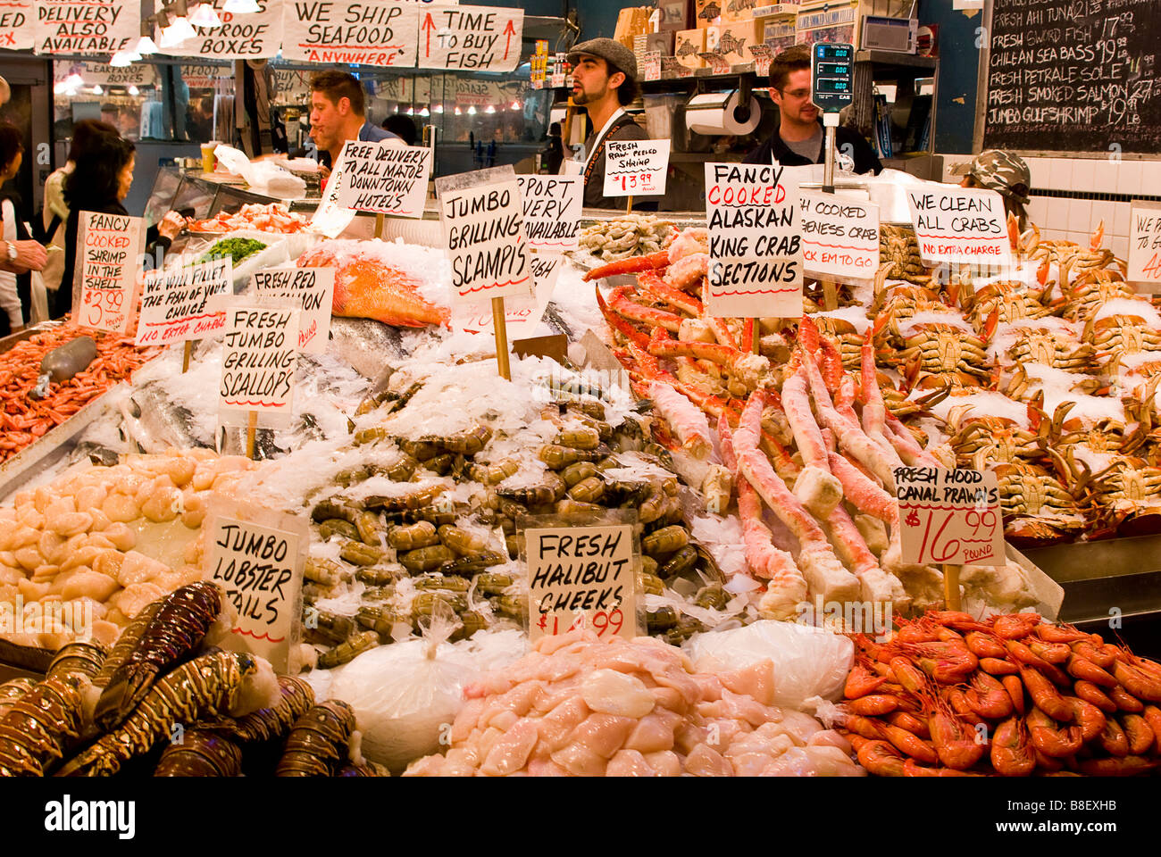 Usa wa seattle pike place market seafood display at for Fish market seattle