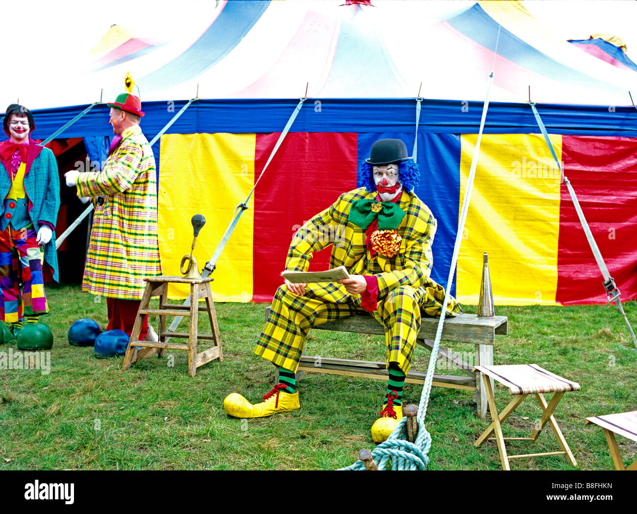 Clowns in front of circus tent  sc 1 st  Alamy & Clowns in front of circus tent Stock Photo: 22470777 - Alamy