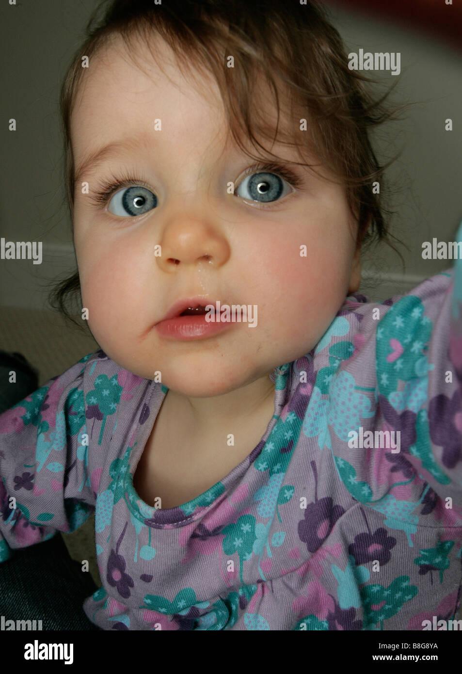 group of baby girl blue eyes