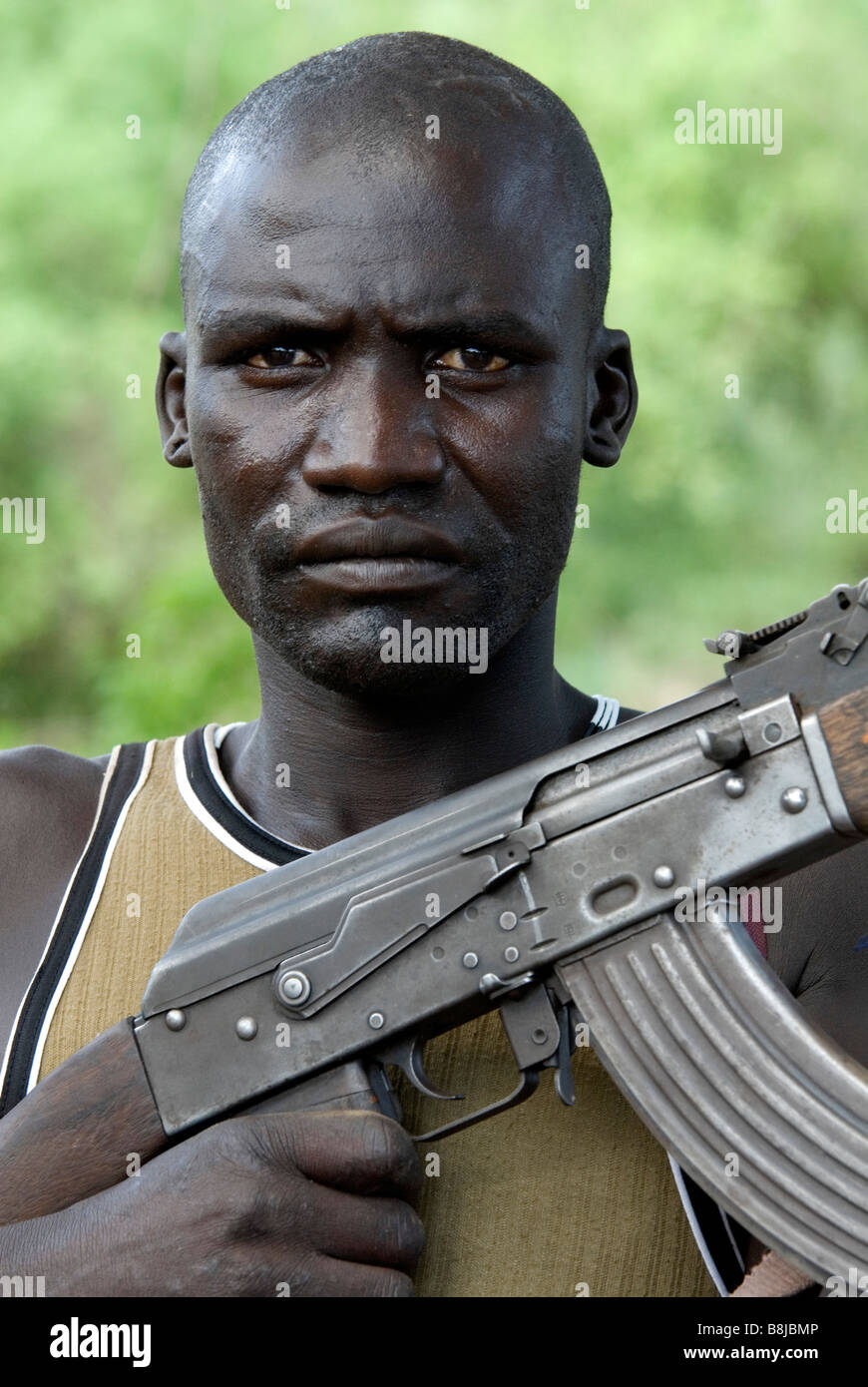 Mursi boy in the Lower Omo Valley of Ethiopia, Stock Photo