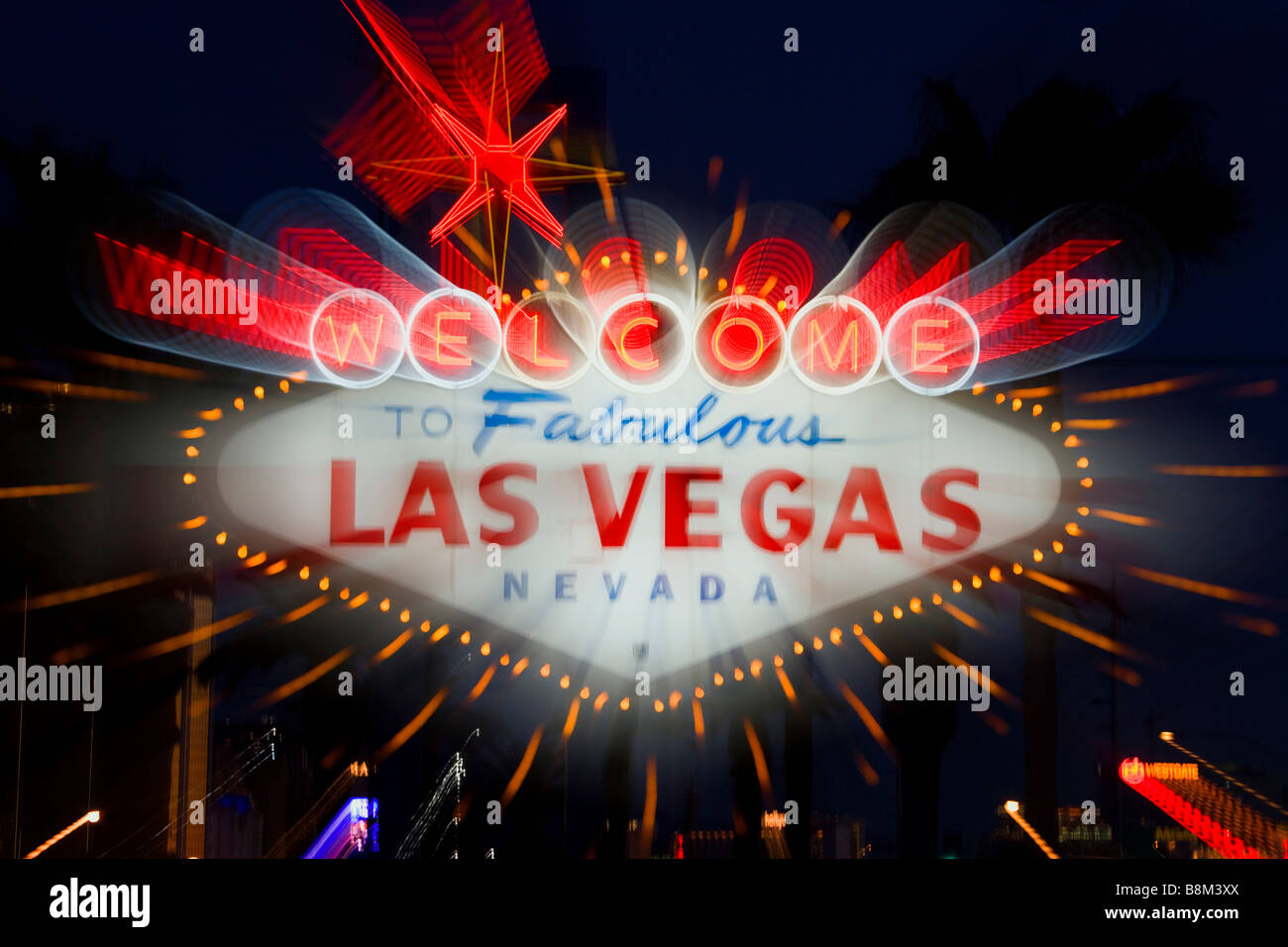 Stock footage welcome to fabulous las vegas sign with flashing lights - Welcome To Las Vegas Sign On The Las Vegas Strip Nevada Usa Stock