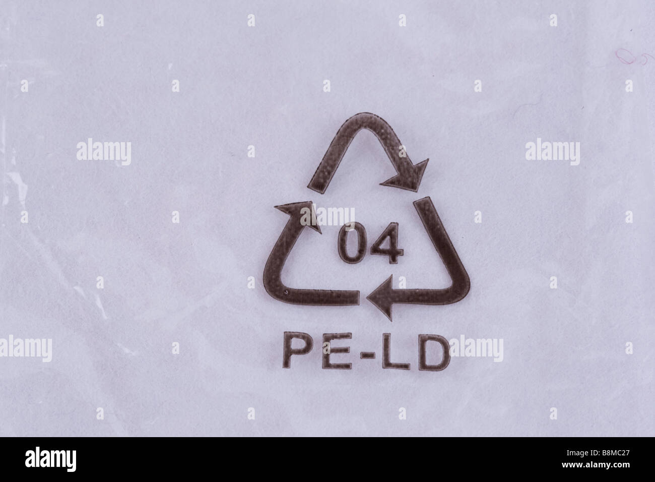 Recycling logo stock photos recycling logo stock images alamy ldpe pe ld number 4 low density polyethylene recycling logo on plastic packaging uk stock biocorpaavc