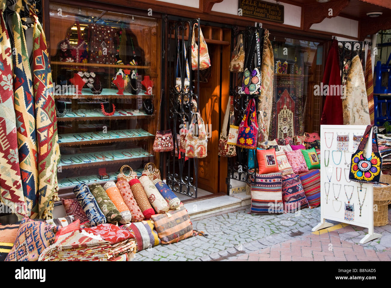 Material fabric and cloth for sale in front of a turkish for Fabric material for sale