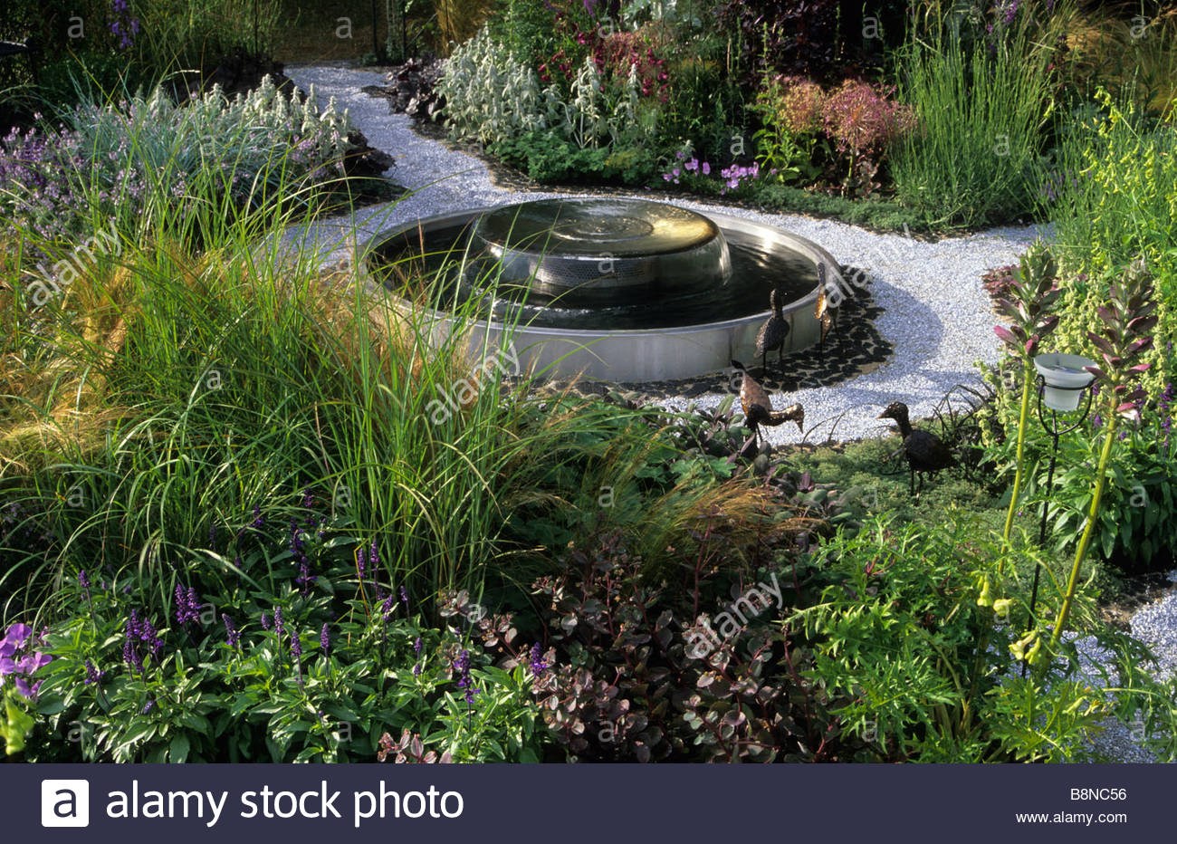 Modern Water Features Modern Contemporary Circular Stainless Steel Shallow Water Feature