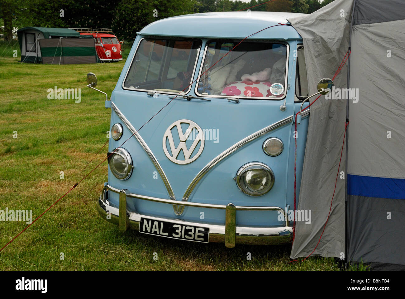 VW Split Screen Camper Van With Awning Jamboree Revesby Park Lincolnshire England