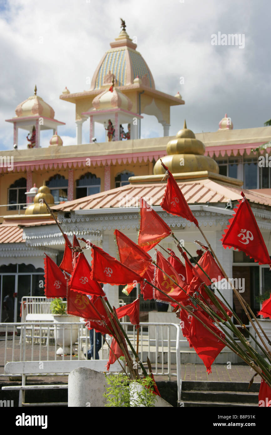 Red flags with the om symbol at the grand bassin indian hindu red flags with the om symbol at the grand bassin indian hindu temple in mauritius biocorpaavc Gallery