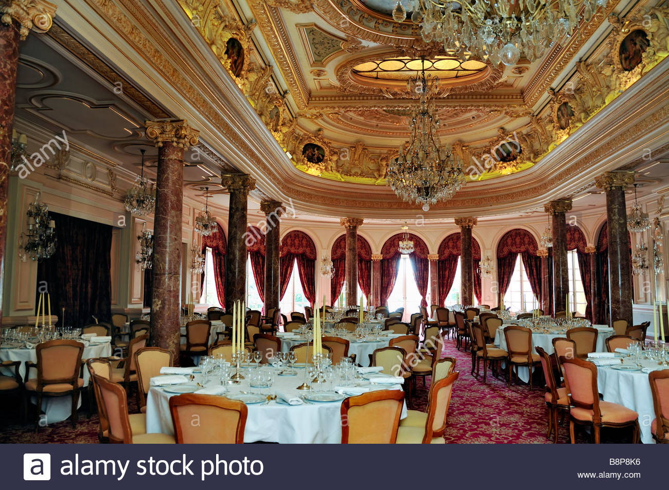 "monaco, monte carlo, interior view of ""five star"", luxury hotel"