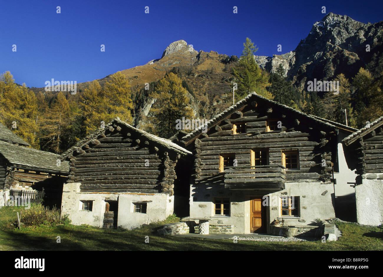 old farmhouses at borgonovo val bregaglia switzerland bergell