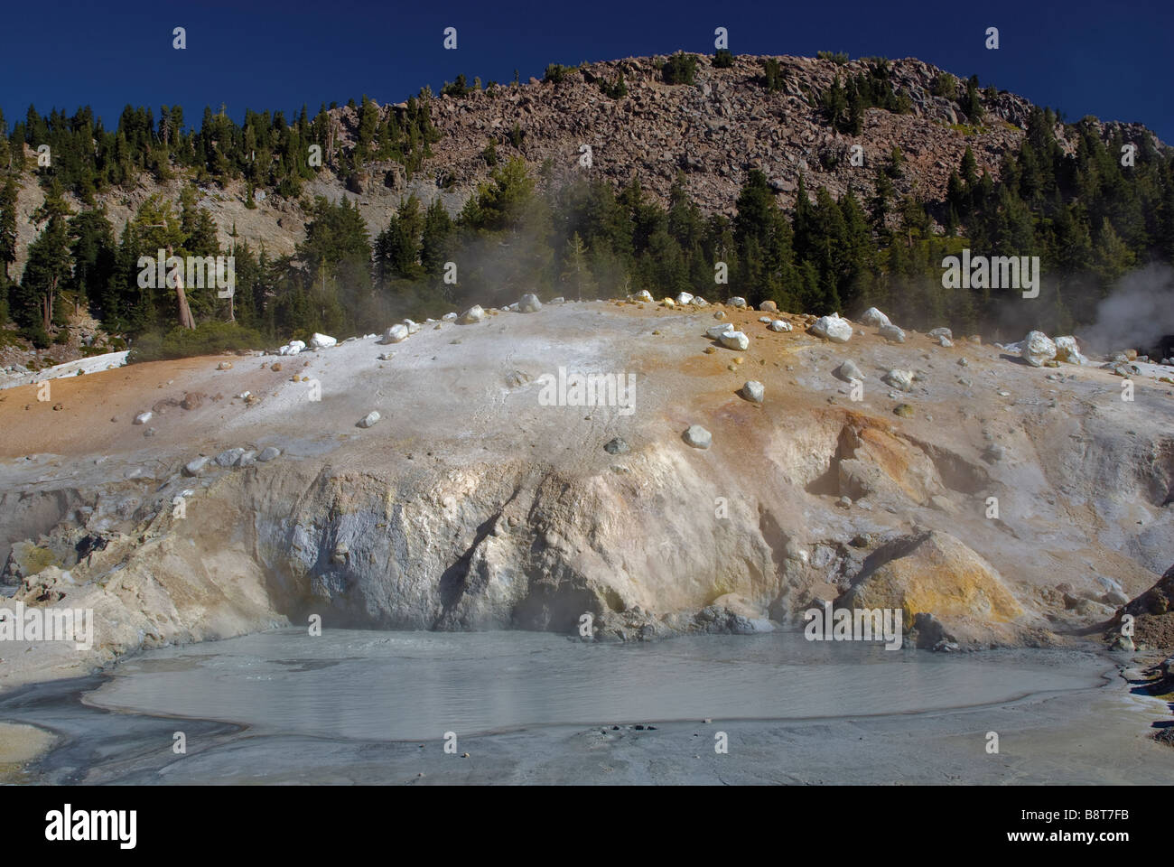 big boiler pool at bumpass hell area in lassen volcanic national park stock photo royalty free. Black Bedroom Furniture Sets. Home Design Ideas