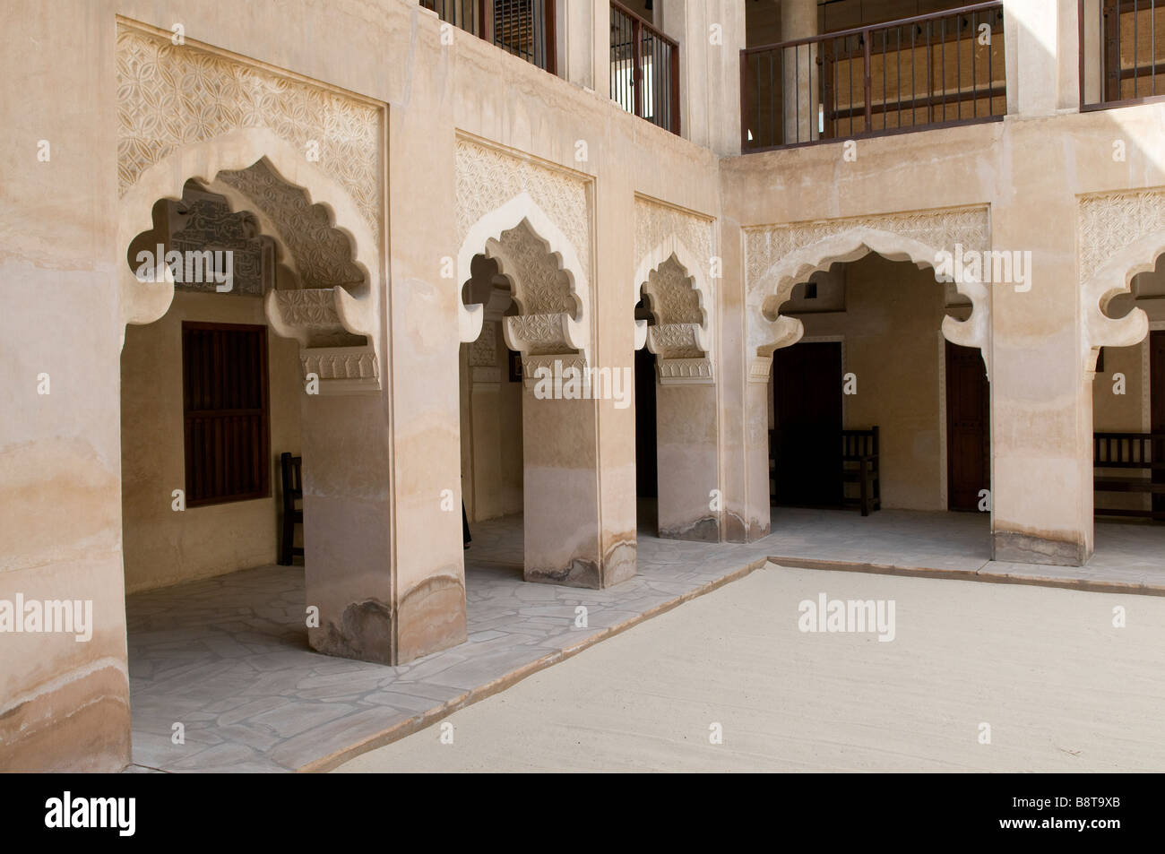 Traditional arabic house museum dubai uae stock photo for Traditional house building