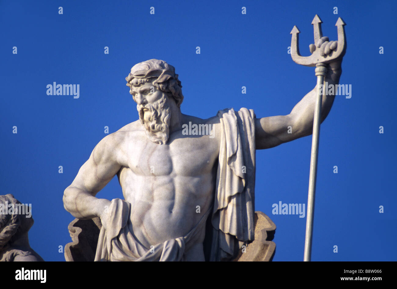 Neptune, Roman God of the Sea, & Trident, Neptune Fountain Stock ...