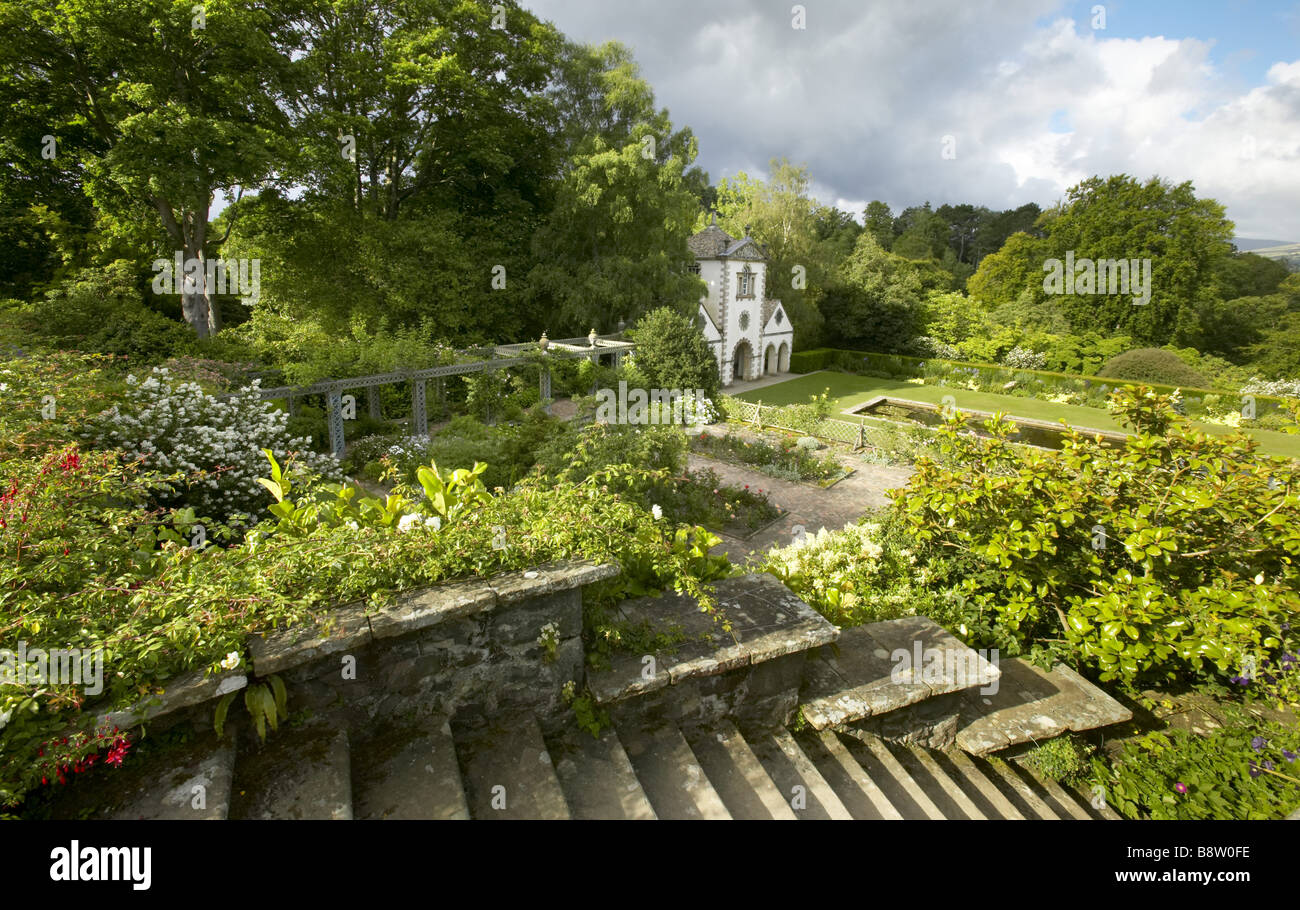 Garden steps leading to the canal terrace and pin mill at for Terrace steps