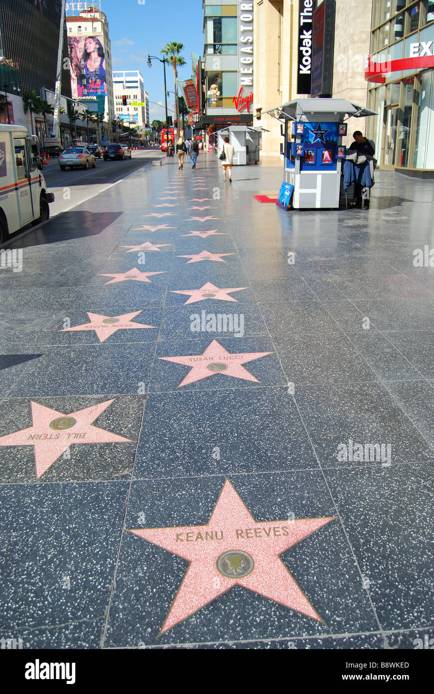 hollywood walk of fame hollywood boulevard hollywood los angeles stock photo 22691717 alamy. Black Bedroom Furniture Sets. Home Design Ideas