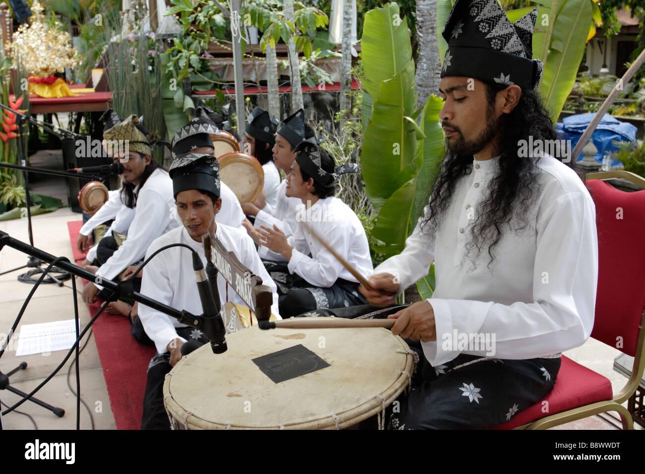Playing Traditional Music During A Wedding At Aryani Resort In Terengganu Malaysia