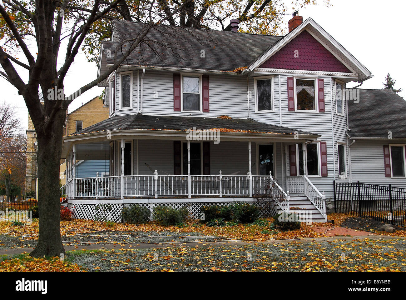 Typical american house sheridan illinois united states for Houses in united states