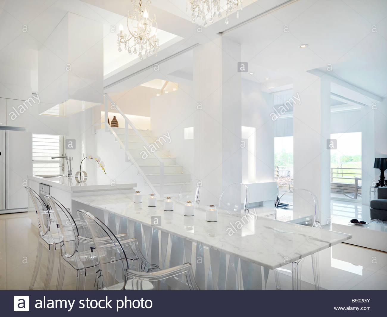Marble Dining Table With Clear Plastic Chairs Part 54