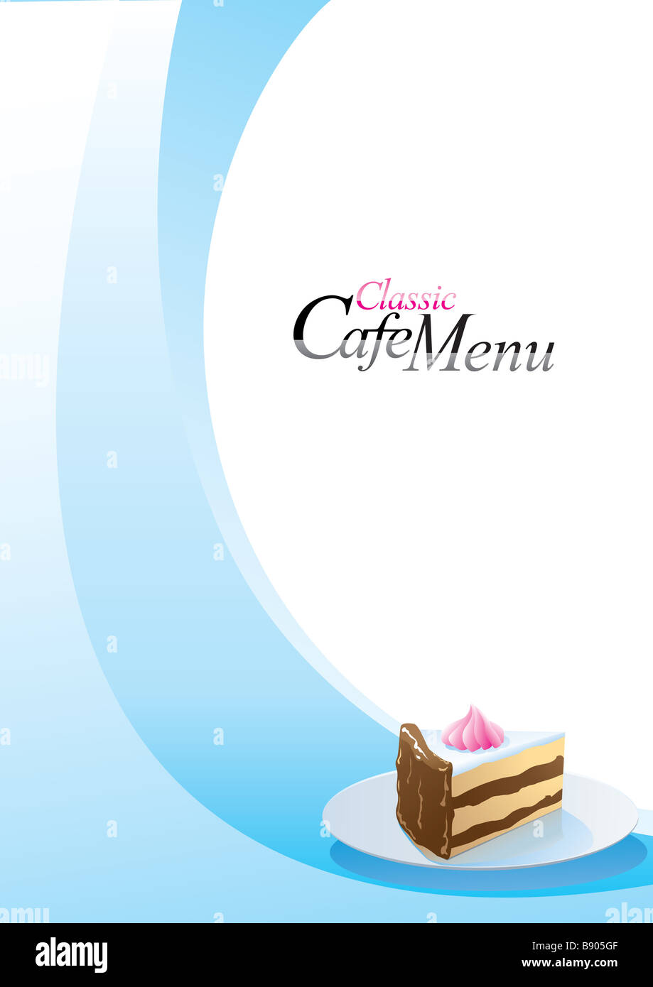 Modern Style Dessert Menu Template  Dessert Menu Template