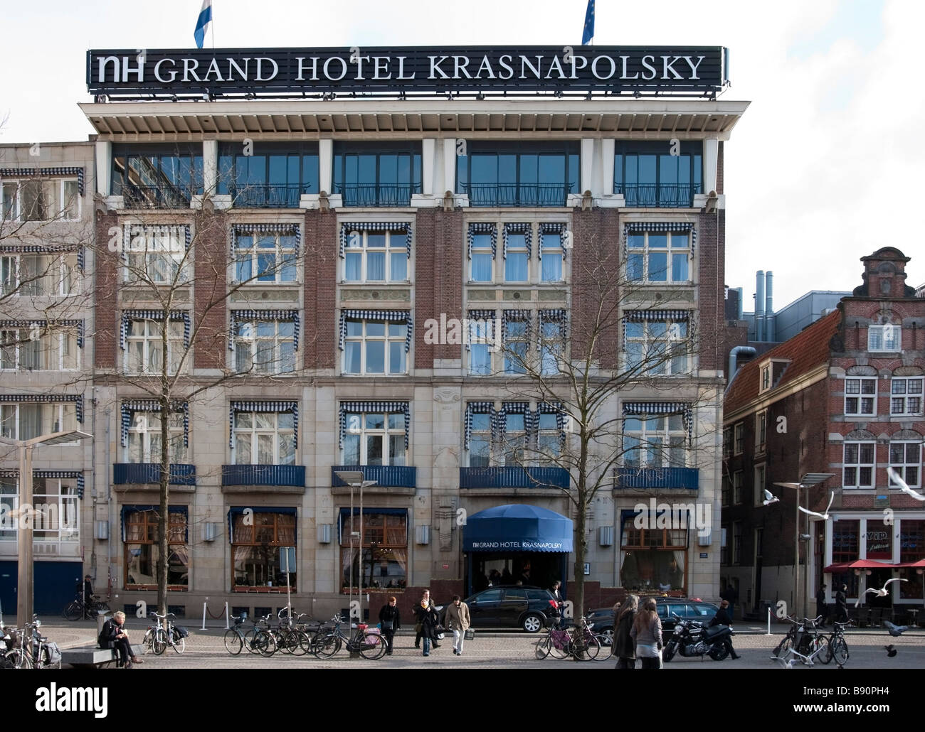 The Grand Hotel Krasnapolsky Amsterdam Stock Photo
