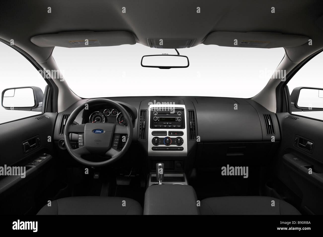 2009 ford edge se in silver dashboard center console gear shifter view