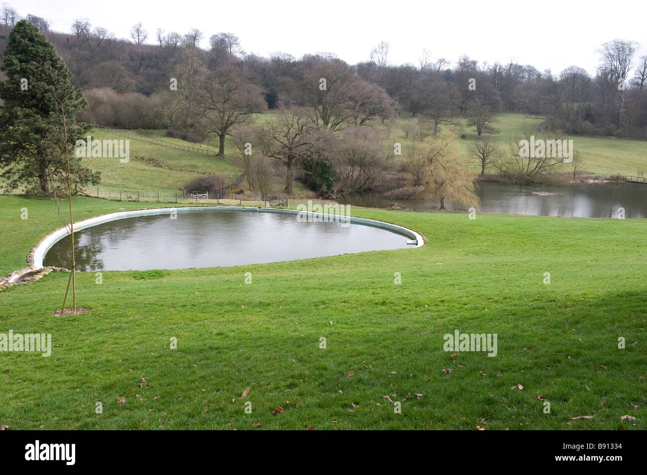 the swimming pool at chartwell family home and garden of sir winston stock photo royalty free