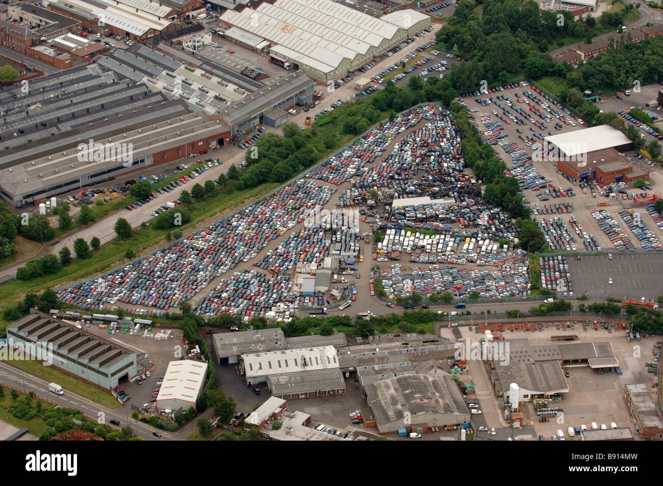 Auction Auto Usa >> Aerial view of the Manheim Car Auction site Darlaston Wednesbury West Stock Photo, Royalty Free ...