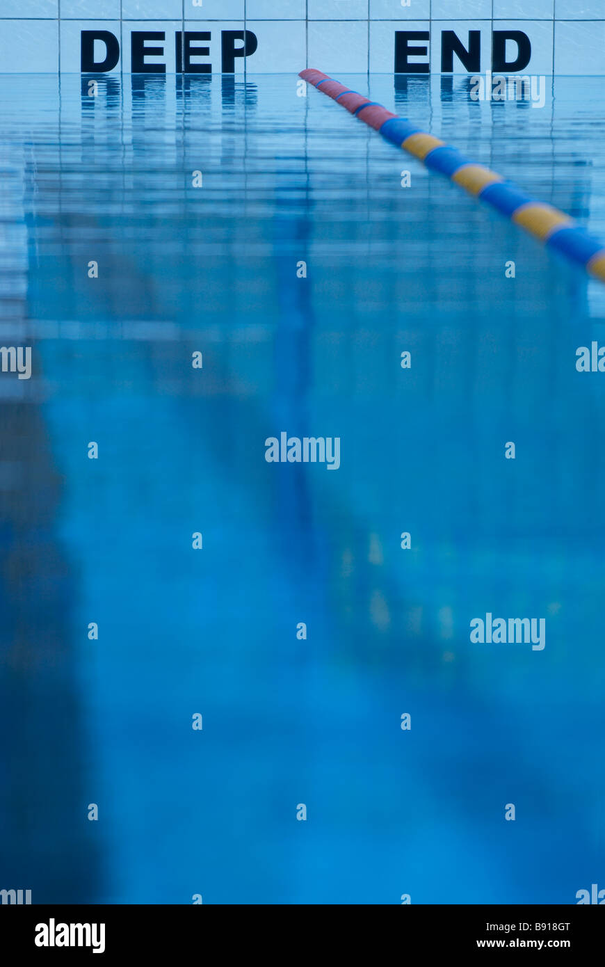 Deep end of swimming pool stock photo royalty free image 22770968 alamy for How deep is a olympic swimming pool