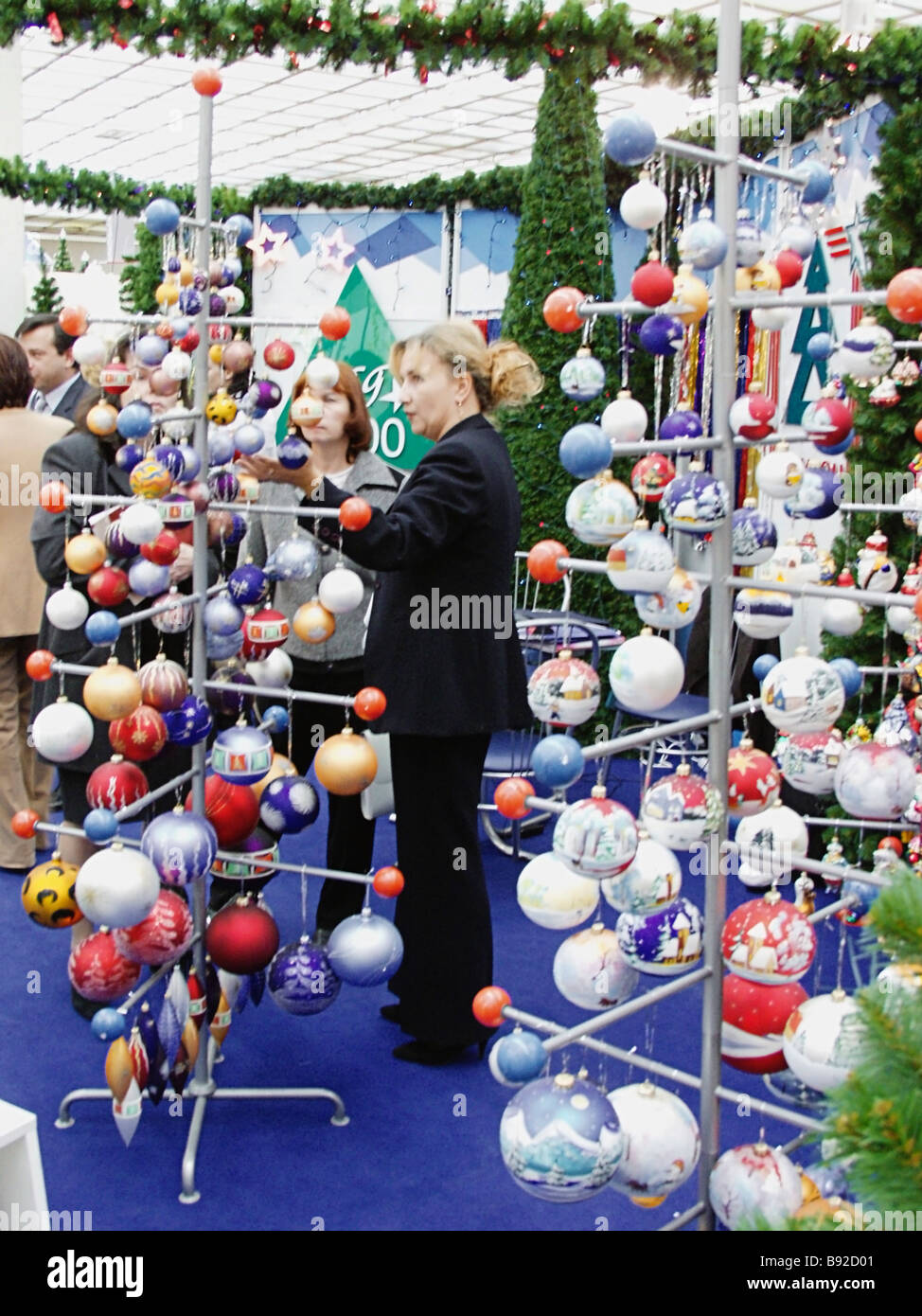 Stock Photo The 4th International Christmas Decorations Pyrotechnics And Decorations For Shop Widows Trade Fair Christmas World Russia