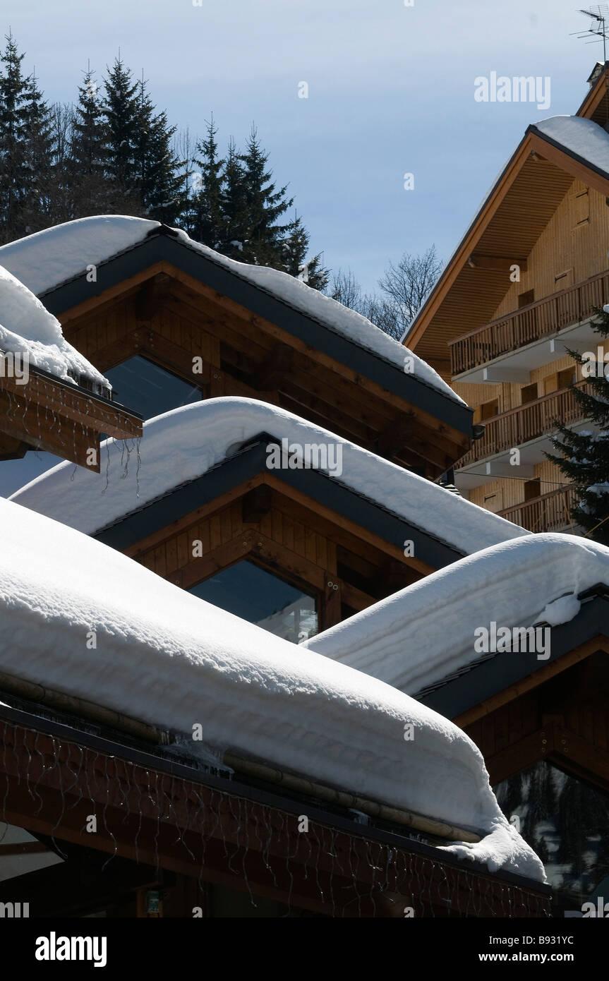Meribel Ski Resort Three Valleys France Stock Photo Getty Images