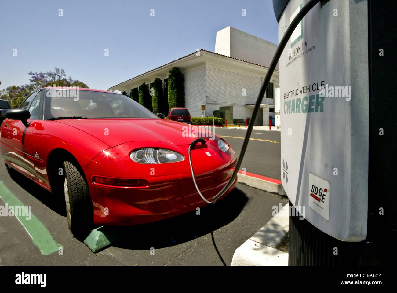 A general motors ev1 electric car has its battery for General motors electric car