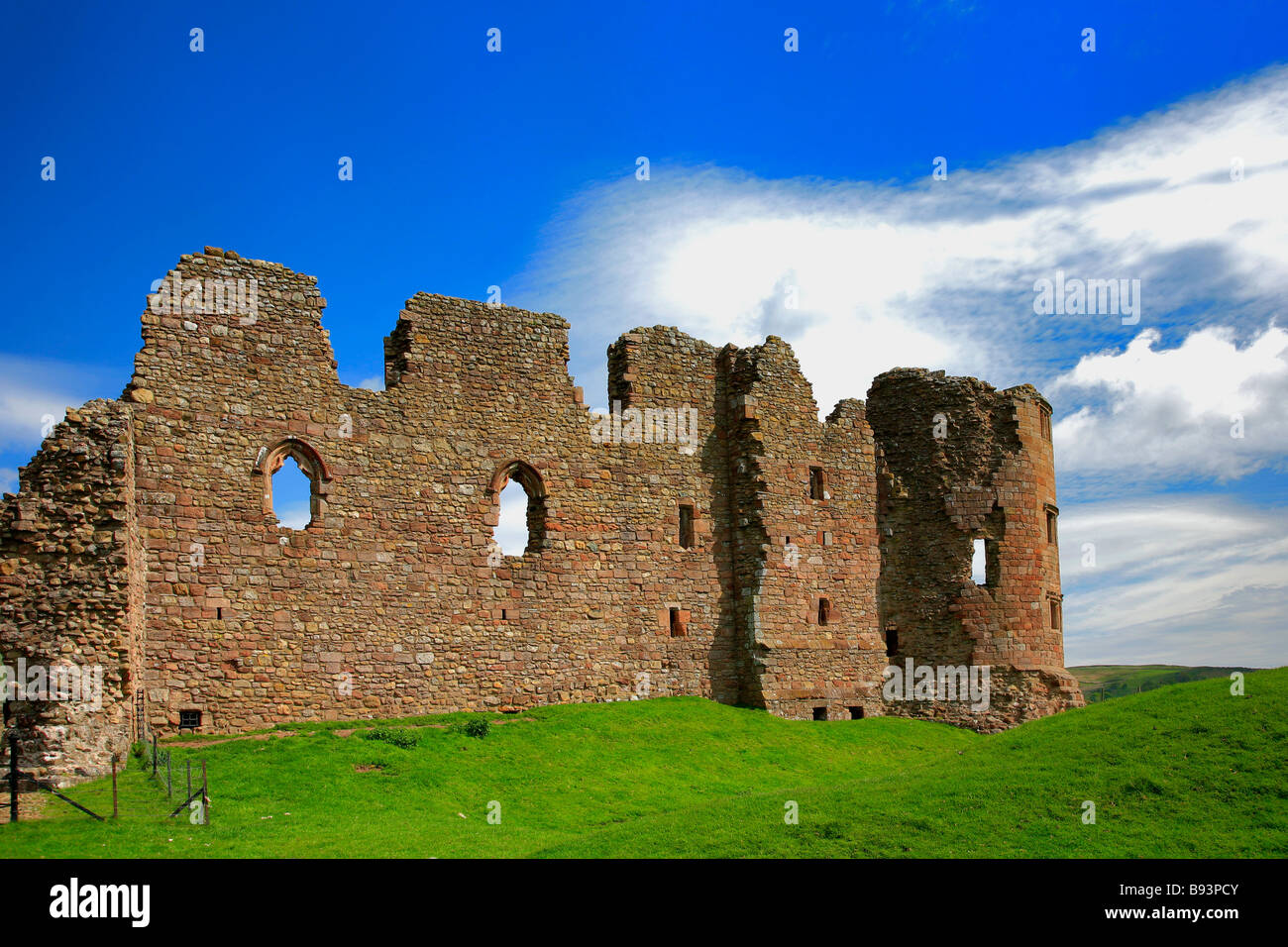 The Ruined Walls of English Heritage Site Brough Castle Lake ...