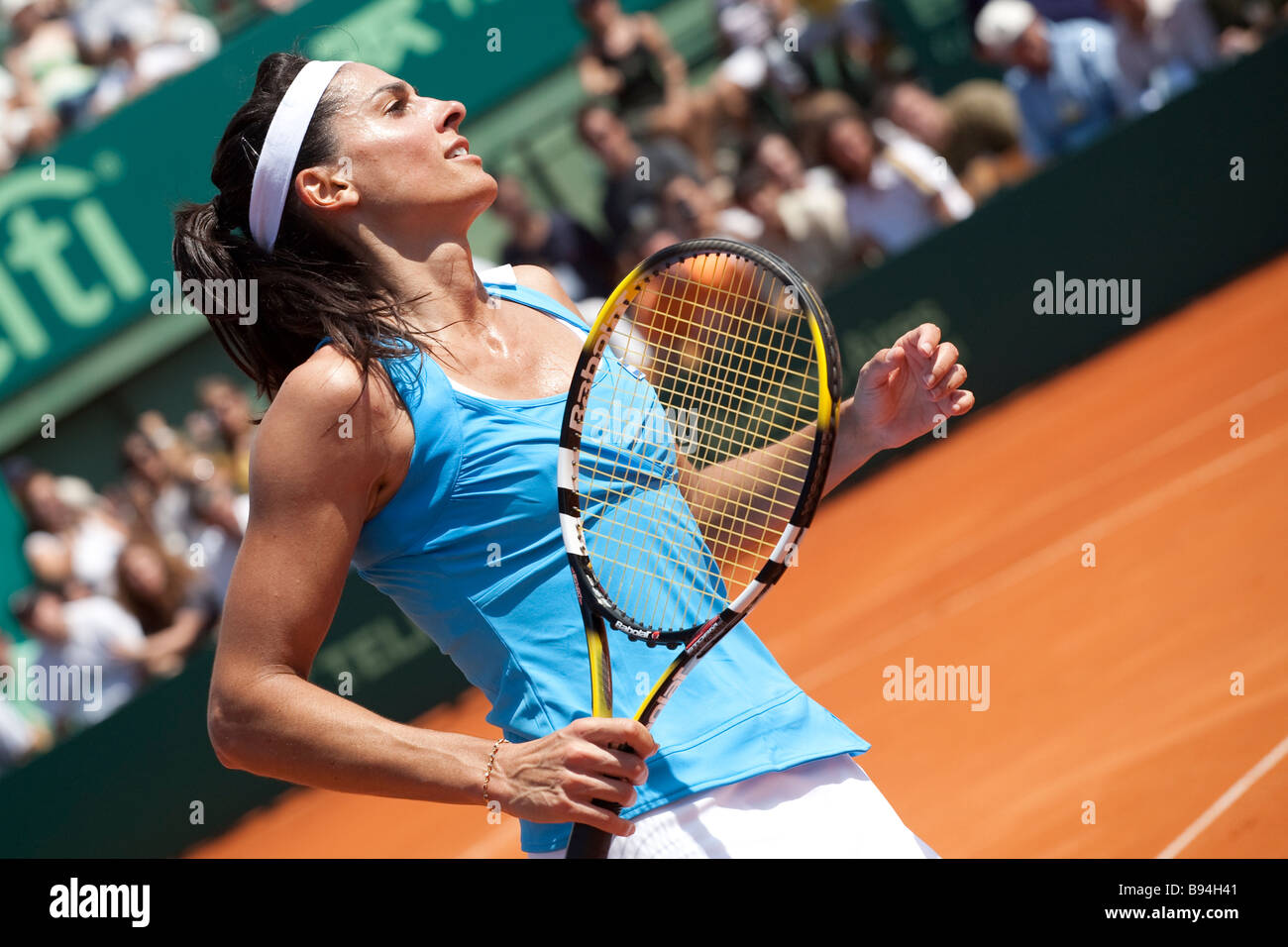 Gabriela Sabatini in a fundraising tennis match played against