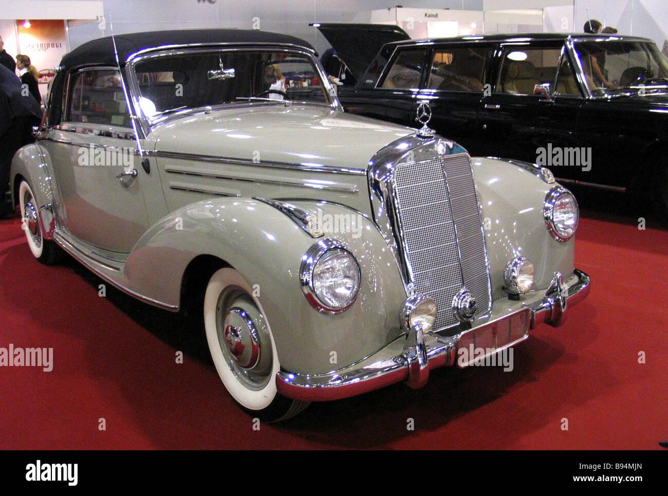 A 1952 mercedes benz 220 cabrio a automobile presented at for 1952 mercedes benz